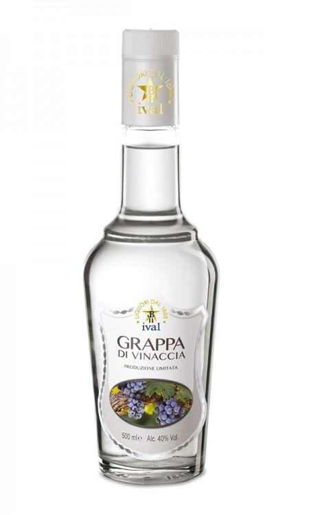 Grappa di vinaccia bottiglia nuda Ival